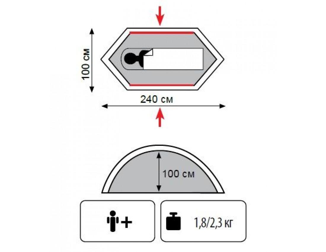 Палатка одноместная Tramp Bicycle light (v2)