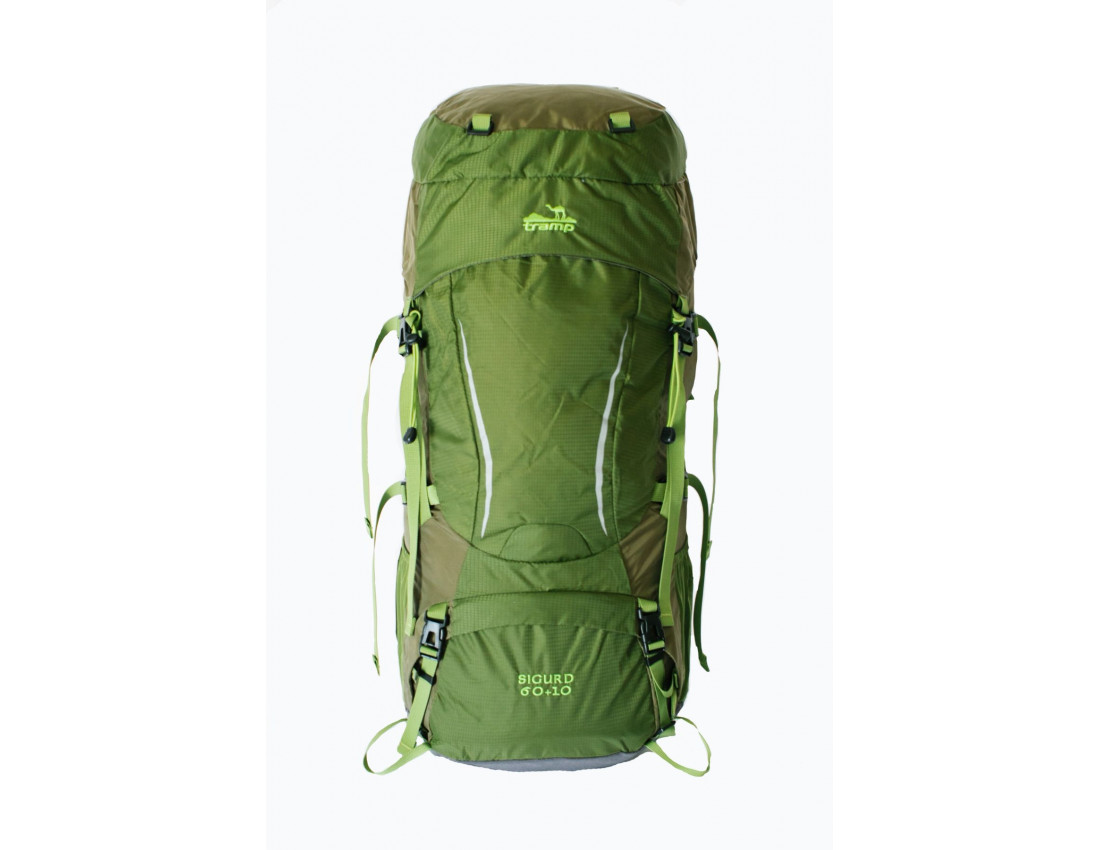 Туристический рюкзак Tramp Sigurd 60+10 зеленый