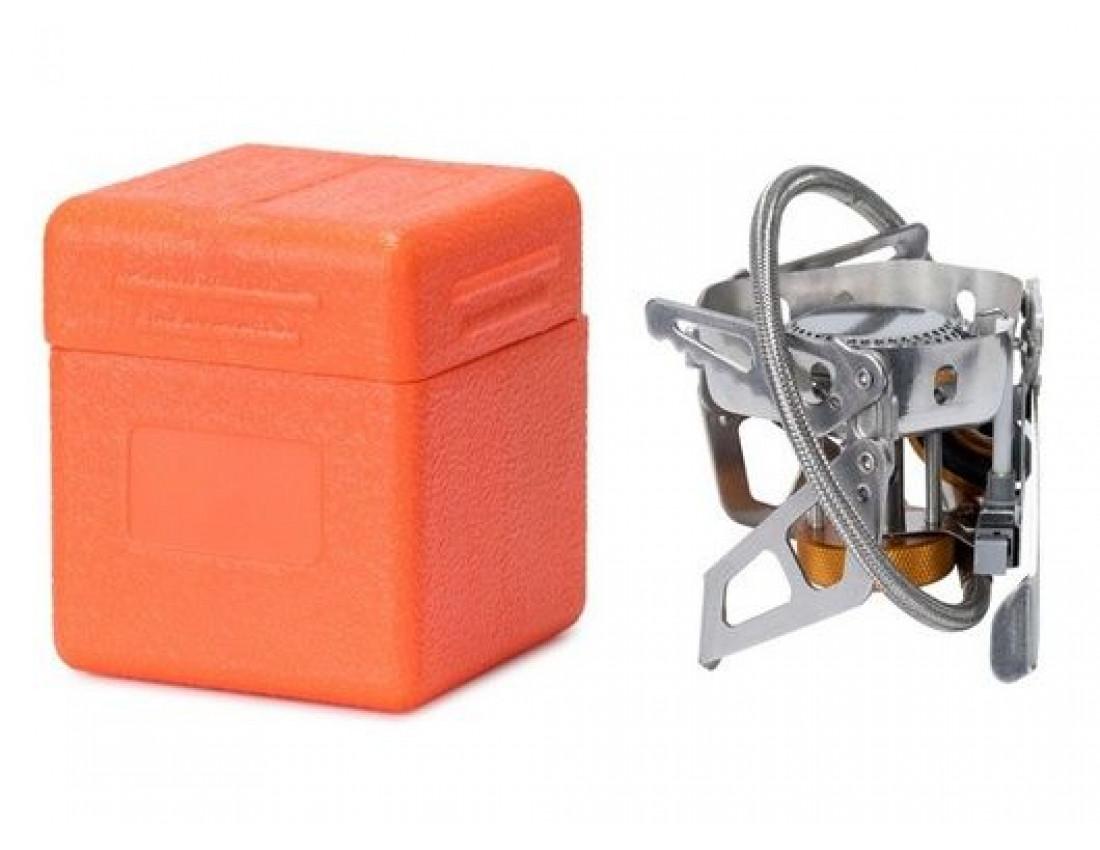 Горелка газовая со шлангом, пьезоподжигом и ветрозащитой Tramp TRG-046