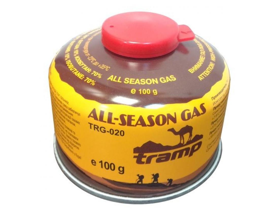 Баллон газовый Tramp (резьбовой) 100 грамм TRG-020