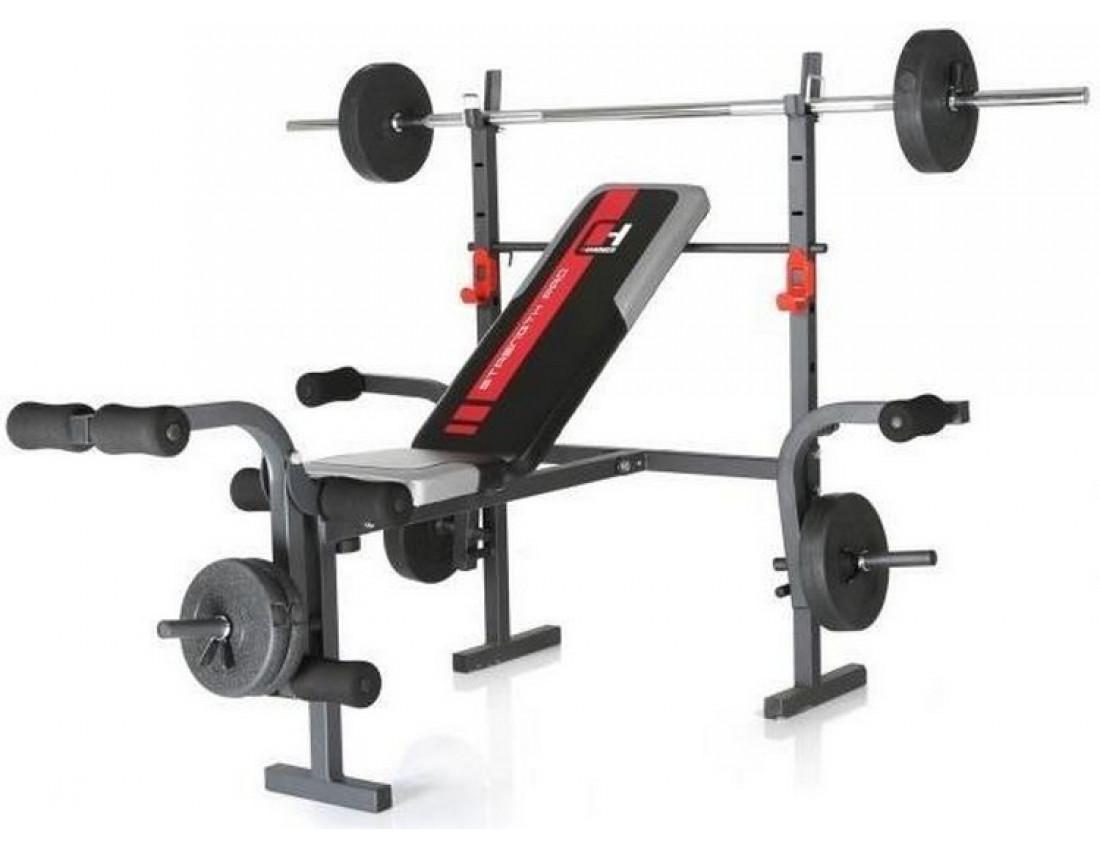 Силовая скамья со штангой 30 кг Hammer Bermuda 45042