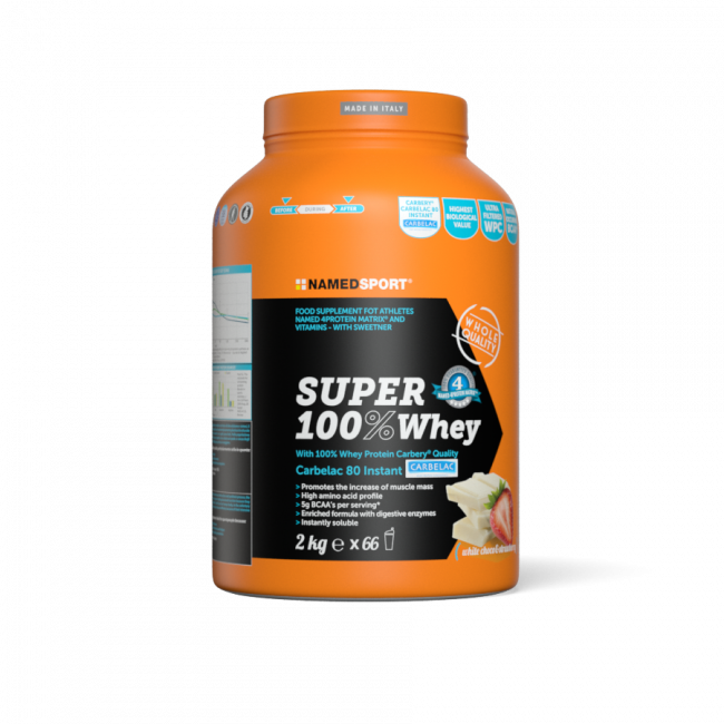 Протеин Namedsport SUPER 100% WHEY 2 кг белый шоколад-клубника