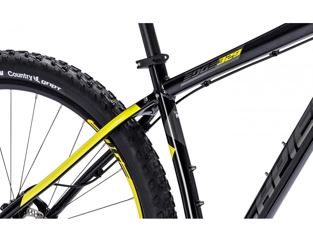 Велосипед LAPIERRE EDGE 329 L [2018] BLACK - YELLOW (B127_48) унисекс