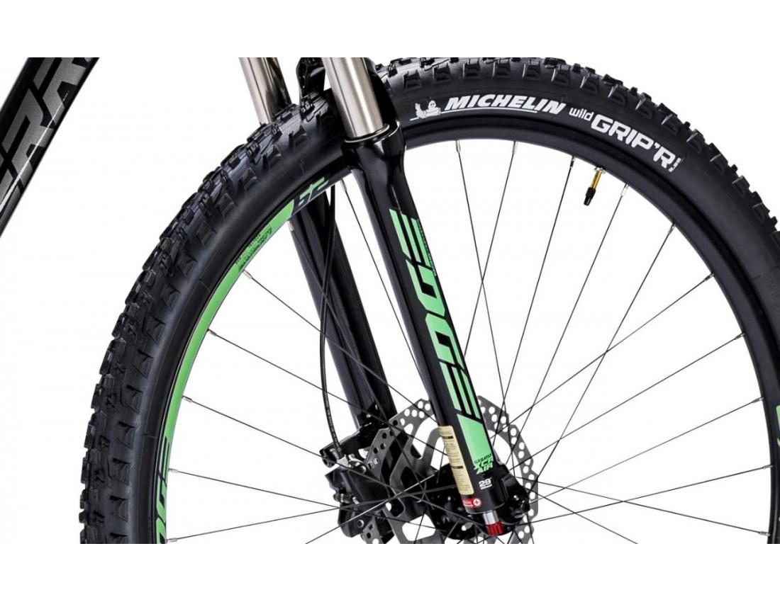 Велосипед LAPIERRE EDGE 527 M [2018] BLACK - GREEN (B129_44M) унисекс