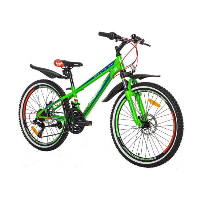 """Велосипед Premier Pirate 24 Disc 11""""зеленый с голубым (SP0002143) 2017 унисекс"""
