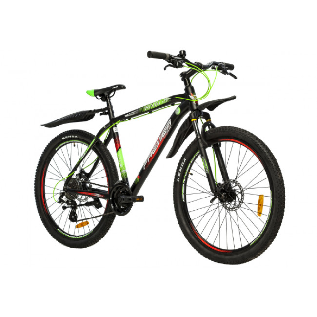 Велосипед Premier Tsunami 27 20 (2018) Black - Green - Red (SP0004692) мужской