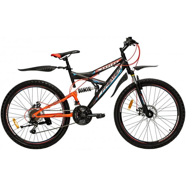 Велосипед PREMIER RAPTOR 26 18 [2018] BLACK - ORANGE (SP0004702) унисекс