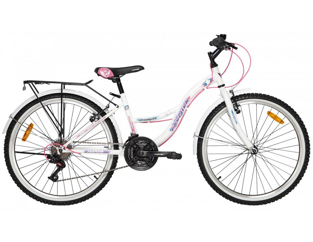 Велосипед PREMIER TRIUMPH 24 V-BRAKE 13 [2018] NEON YELLOW (SP0004918) подростковый