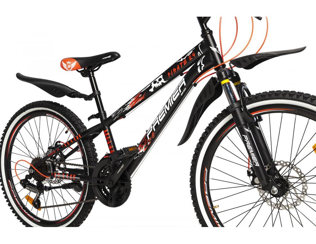 Велосипед PREMIER PIRATE 24 DISC 11 [2018] BLACK (SP0004920) подростковый