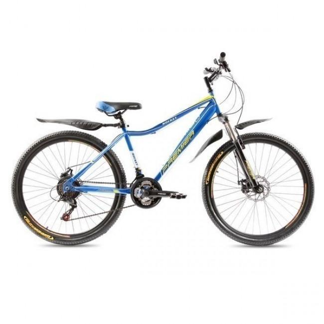 """Велосипед Premier Rocket Disc 16"""" голубой с желтым-белым унисекс"""
