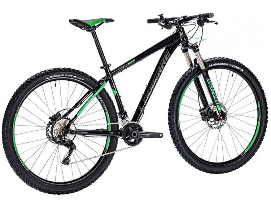 Велосипед LAPIERRE EDGE 529 L [2018] BLACK - GREEN (B130_48) унисекс