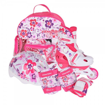 Детские раздвижные роликовые коньки Tempish Flower Baby skate (комплект) 34-37