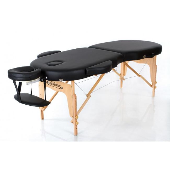 Массажный стол RESTPRO VIP OVAL 2 черный