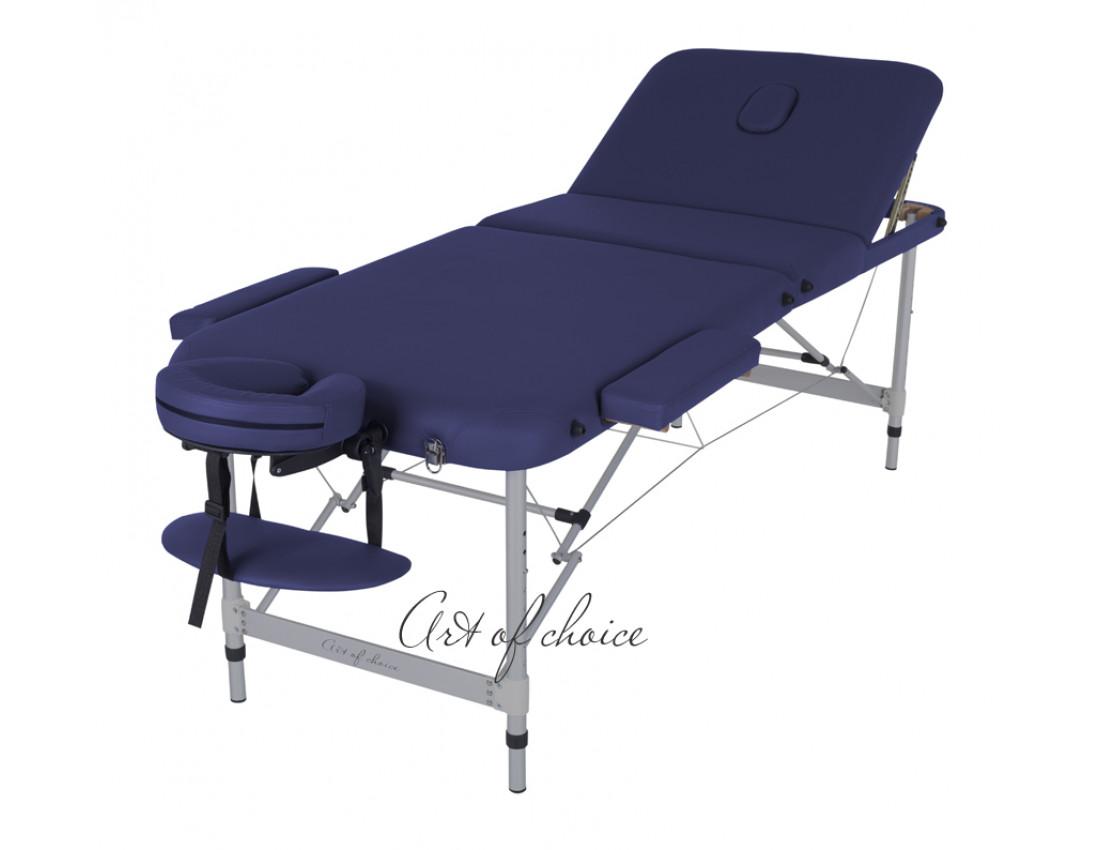 Массажный стол LEO Comfort синий