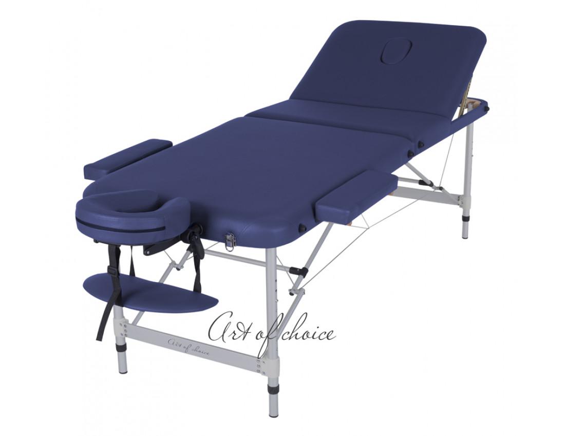 Массажный стол LEO синий