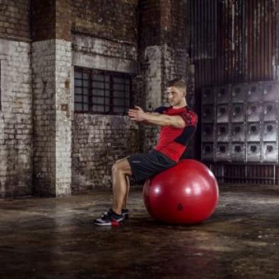 Мяч гимнастический Reebok RAB-12016RD 65 см красный